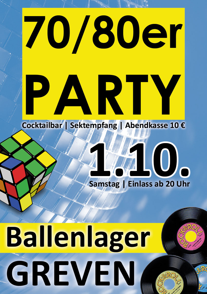 70er-80er-Party